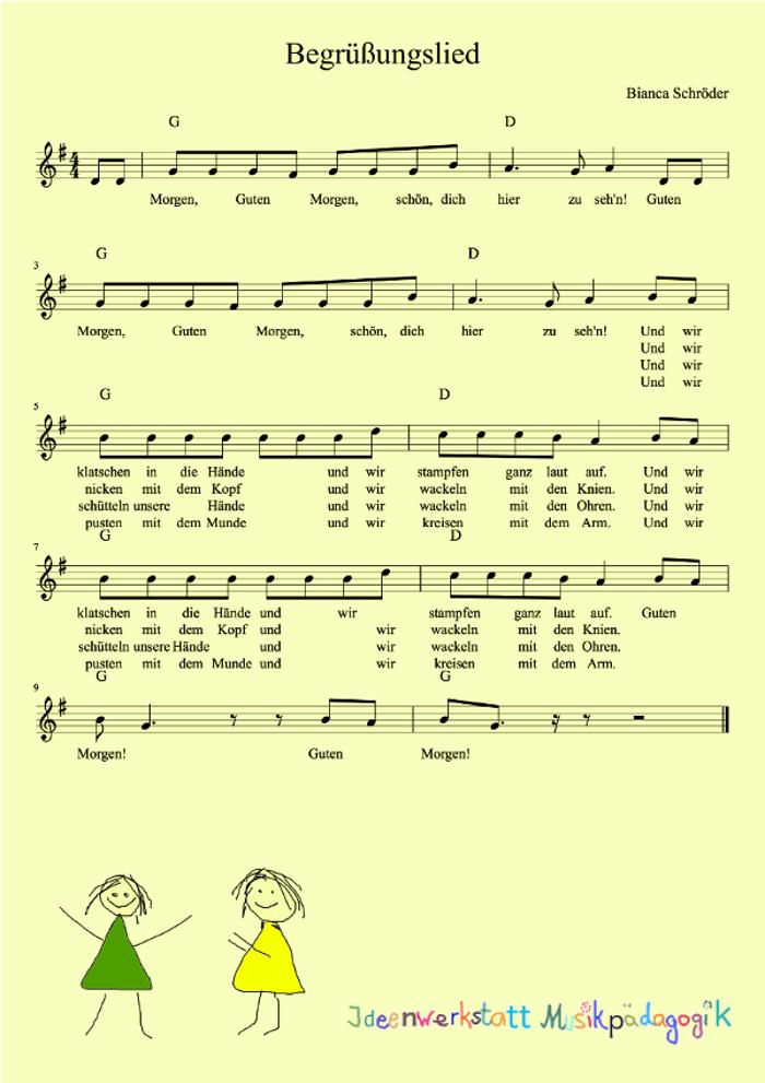 Ein Morgenkreislied Begrüßungslied