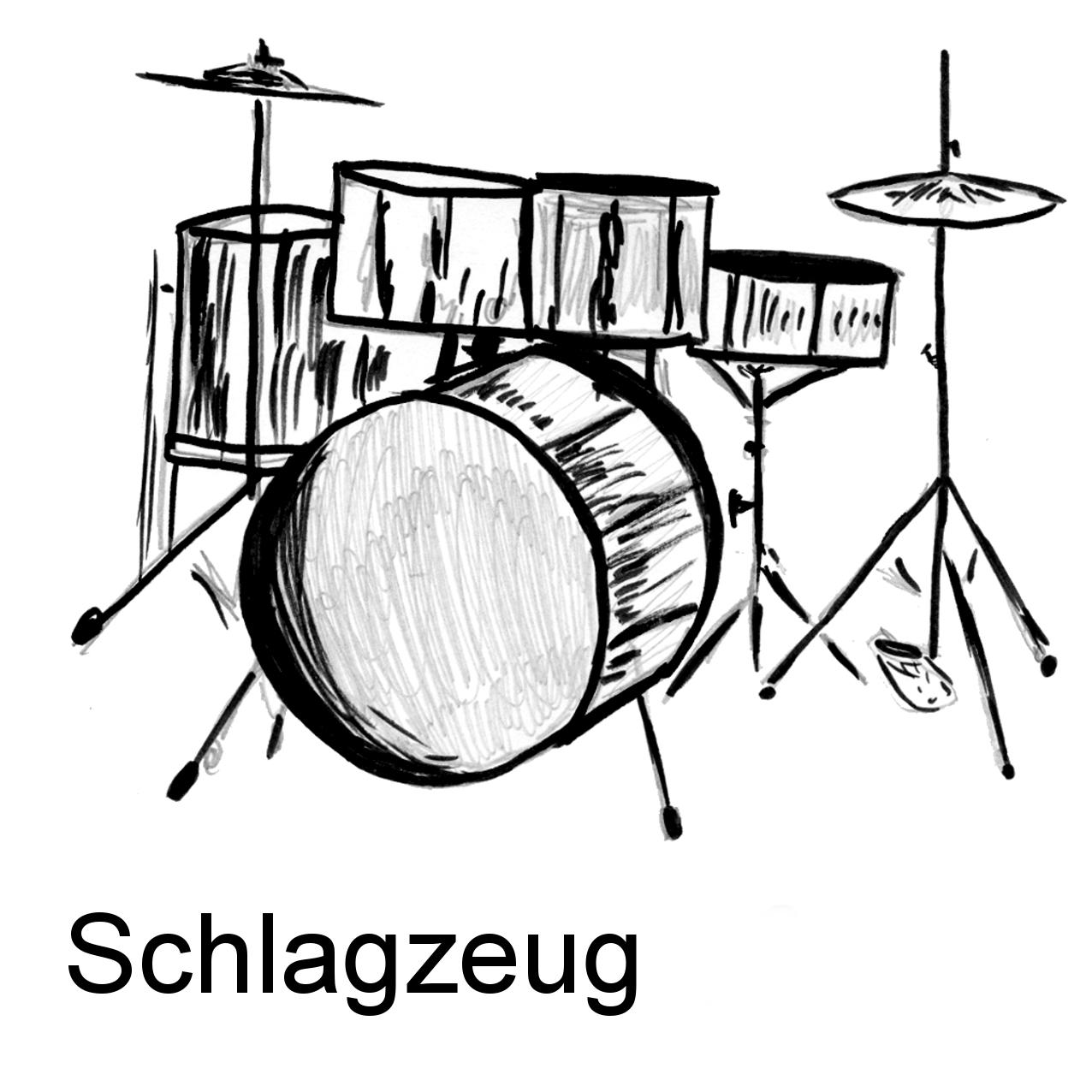 Ausmalbilder Rhythmusinstrumente